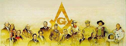 Famous Freemasons Lithograph
